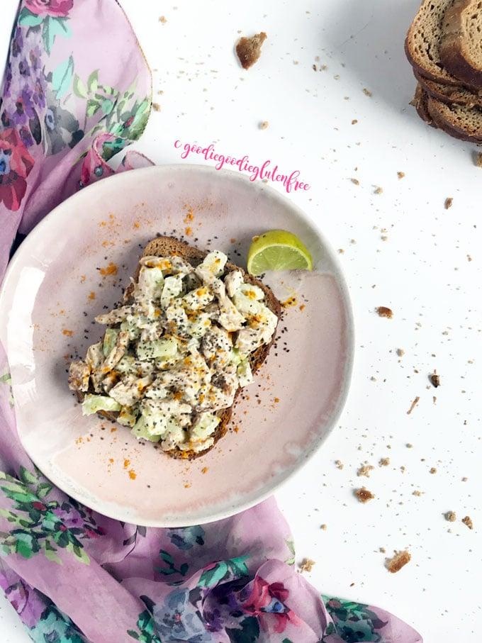 creamy clean chicken salad dairy-free