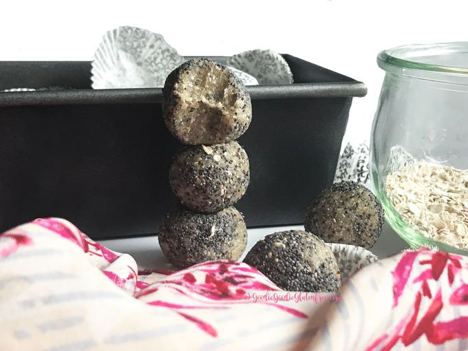Healthy gluten free lemon poppy bliss balls