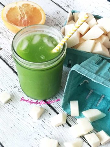 healthy grapefruit jicama green juice