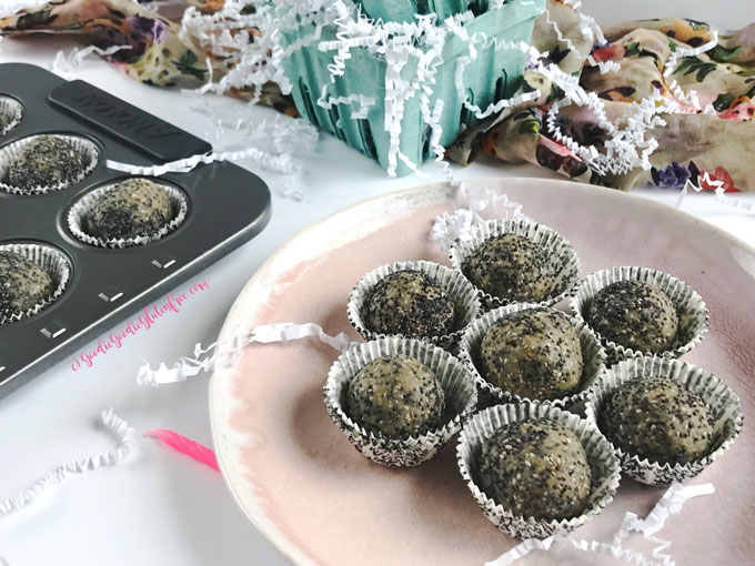 Healthy lemon poppy seed bliss balls gluten free