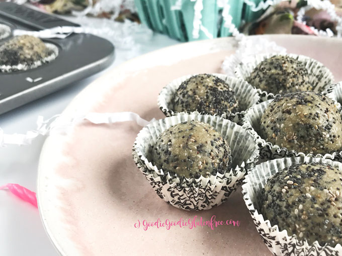 Healthy lemon poppy seed bliss balls