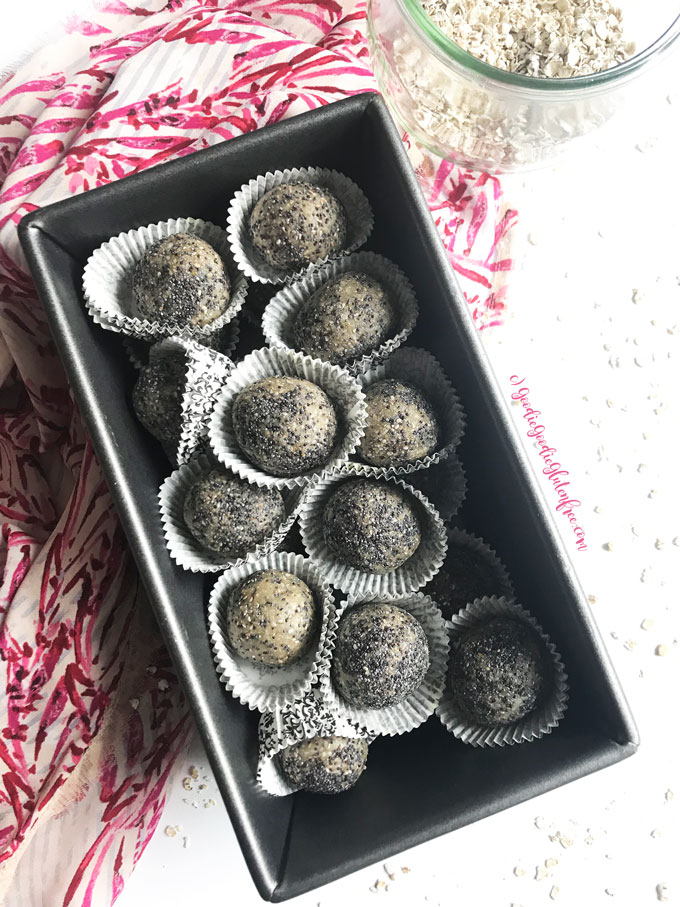 Lemon poppy seed bliss balls gluten free