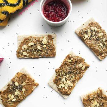 raspberry jam sunbutter toasts