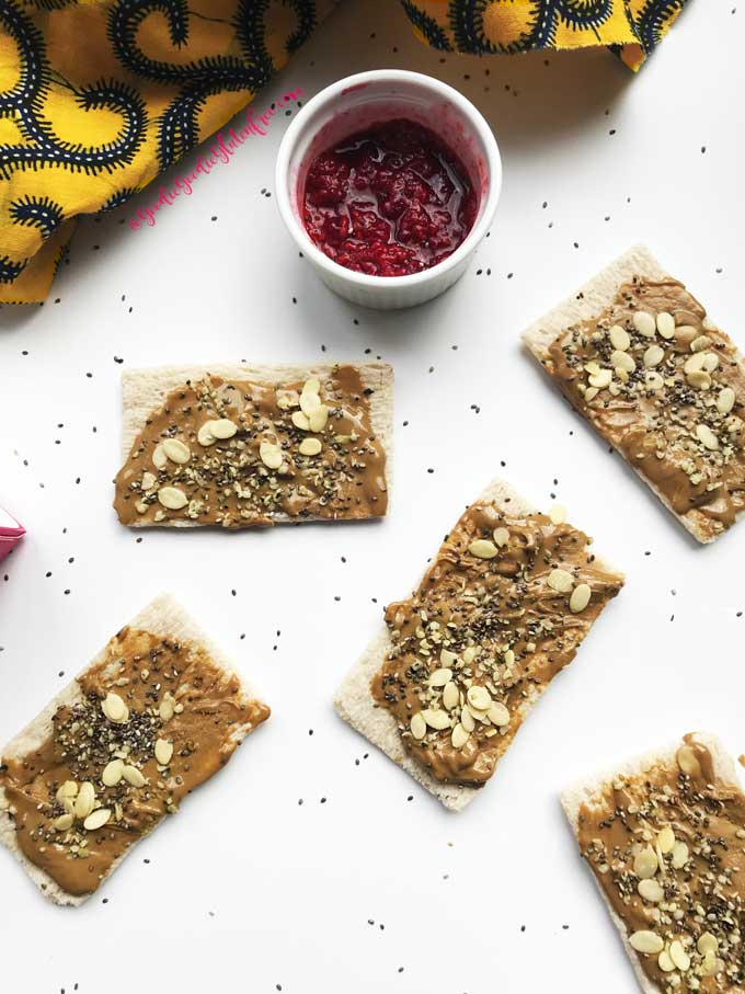 raspberry jam sunbutter toasts