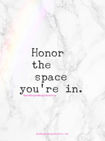 soul talk honor the space you are in