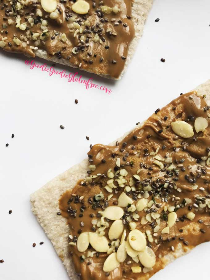 sunbutter superfood jam toasts