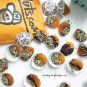 Dark Chocolate Dipped Apricots {gf, df, rsf, nf, vegan}