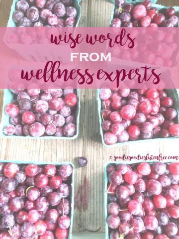 wise words from wellness experts