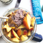 lemon blueberry paleo chia pudding with nectarines