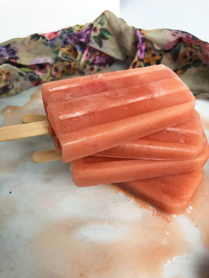 cantaloupe strawberry popsicles