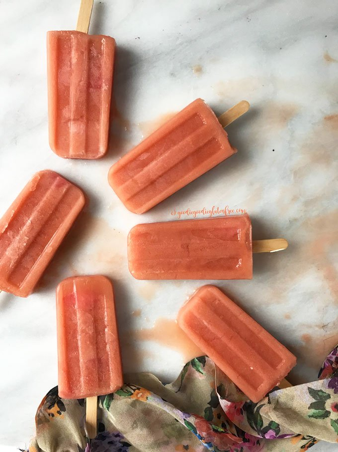 refreshing cantaloupe strawberry vegan popsicles gluten free