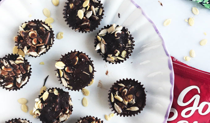 No-Bake Chocolate Crunch Cups {vegan}