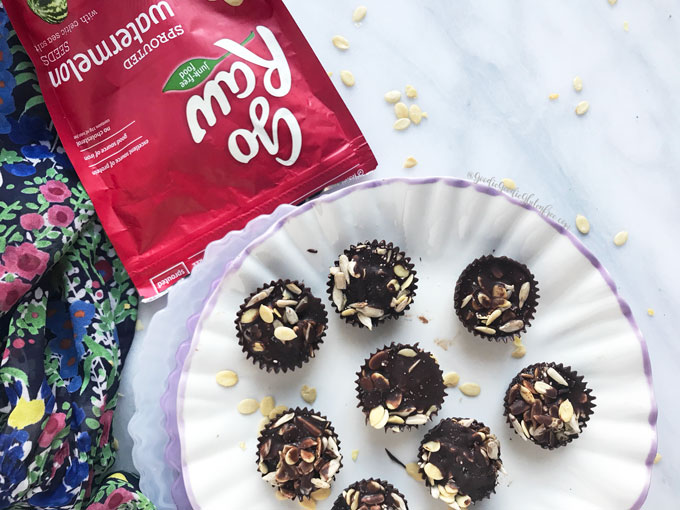 nut-free chocolate no bake crunch cups by health coach julie rosenthal