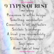 Soul Talk: Self-Care: 9 Types of Rest