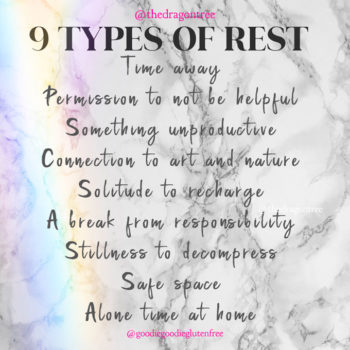 soul talk: 9 types of rest and self care