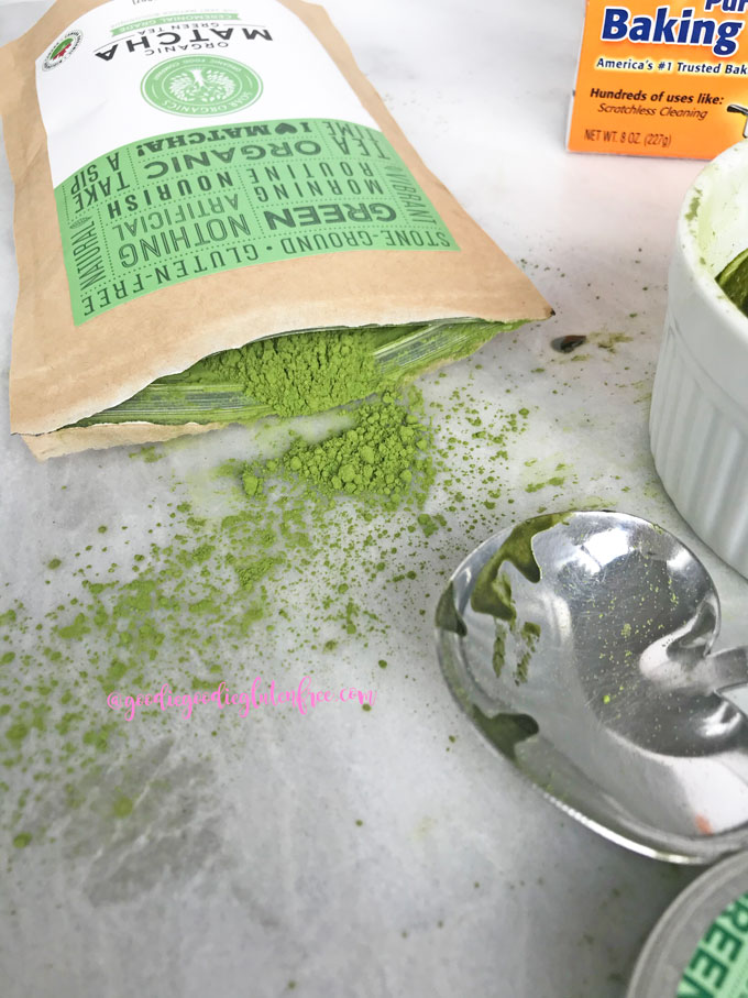 acne spot treatment with matcha