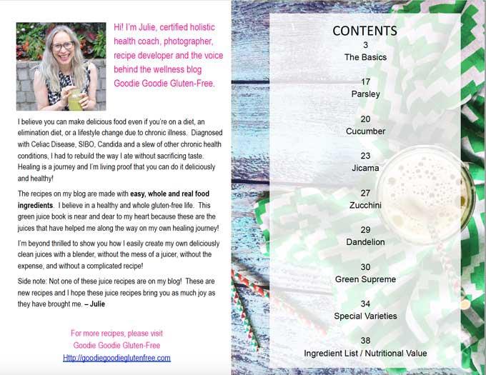 blender juices ebook juicing julie rosenthal coach
