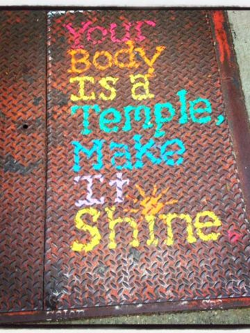 rainbow graffiti of a inspiring quote