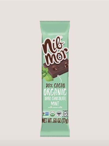 a bar of organic dark chocolate mint by Nibmor